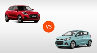 Chevrolet Spark 1.4L LTZ CVT vs. Suzuki Swift 1.2 GLX CVT