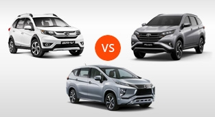 Honda BR-V 1.5 S CVT Modulo vs. Mitsubishi Xpander GLS Sport AT vs. Toyota Rush 1.5 G AT