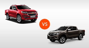 Mazda BT-50 2.2 4x2 MT vs. Chevrolet Colorado 2.5 4x2 MT LT