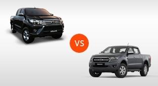 Toyota Hilux 2.4 G DSL 4x2 AT vs. Ford Ranger 2.2 XLS 4x2 AT