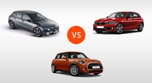BMW 1-Series Hatchback 118i M Sport vs. MINI Cooper S 5-Door Hatch AT vs. Mercedes-Benz A-Class 200 Progressive