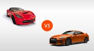 Nissan GT-R 3.8 V6 AT vs. Chevrolet Corvette Stingray 3LT