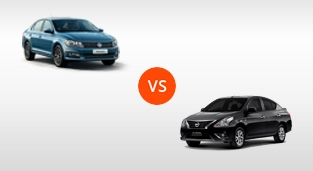 Nissan Almera 1.5 VL AT (Euro 4) vs. Volkswagen Santana 1.5 MPI SE AT