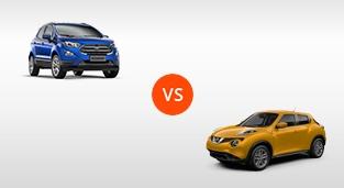 Nissan Juke 1.6 Upper CVT vs. Ford EcoSport 1.5 Titanium AT