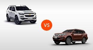 Chevrolet Trailblazer 2.8 4x2 LTX AT vs. Nissan Terra 2.5 4x2 VL AT