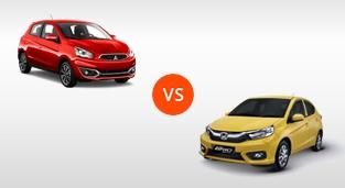 Mitsubishi Mirage GLX CVT vs. Honda Brio 1.2 RS Black Top CVT
