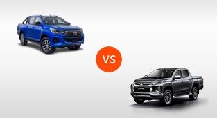 Toyota Hilux 2.8 G DSL 4x4 AT vs. Mitsubishi Strada GT 4x4 AT
