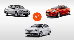 Chevrolet Sail 1.5 LT vs. Nissan Almera 1.5 E AT (Euro 4) vs. JAC J4 1.5 VVT CVT