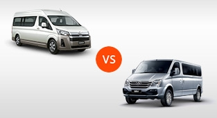 Toyota Hiace 2.8 Commuter Deluxe MT vs. Maxus V80 2.5 Transport CRDi MT (18-Seater)