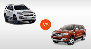 Ford Everest 3.2 Titanium+ 4x4 AT Premium Package vs. Chevrolet Trailblazer 2.8 4x4 Z71 AT