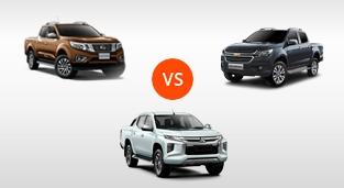 Nissan Navara 4X4 VL Sport Edition AT vs. Chevrolet Colorado 2.8 4x4 AT LTZ vs. Mitsubishi Strada GT 4x4 AT