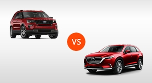 Ford Explorer 2.3 Limited EcoBoost 4x2 AT vs. Mazda CX-9 2.5 Signature AWD