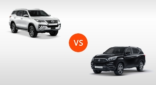 Toyota Fortuner 2.8 V Diesel 4x4 AT vs. SsangYong Rexton 4x4 AT