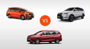 Honda Mobilio 1.5 V CVT vs. BAIC M60 1.5 Standard CVT vs. Suzuki Ertiga GLX 1.5 AT
