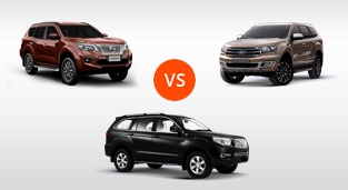 Nissan Terra 2.5 4x2 VL AT vs. SsangYong Rexton 4x2 AT vs. Ford Everest 2.0 Titanium 4X2 AT