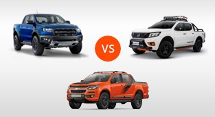 Ford Ranger Raptor 2.0 Biturbo 4X4 AT vs. Chevrolet Colorado 2.8 4x4 AT High Country Storm vs. Nissan Navara 4x4 VL AT N-Warrior