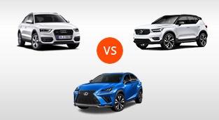 Audi Q3 2.0 TDI Quattro vs. Lexus NX 300 F Sport vs. Volvo XC40 2.0 T5 AWD AT