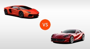 Lamborghini Aventador LP 700-4 vs. Ferrari 812 Superfast 6.5 V12