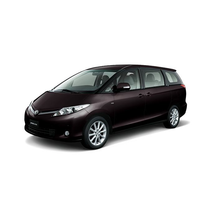 Toyota Previa Deep Red Mica Metallic