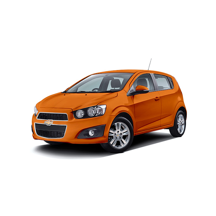 Chevrolet Sonic Hatchback Orange Rock