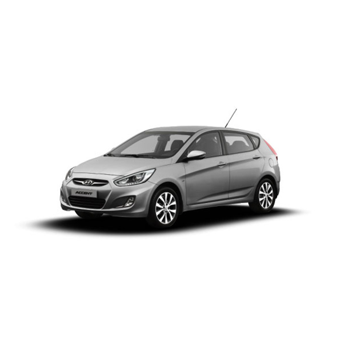 Hyundai Accent Hatchback Sleek Silver