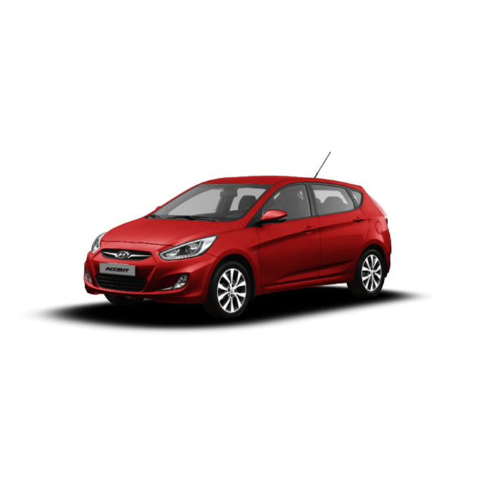 Hyundai Accent Hatchback Veloster Red
