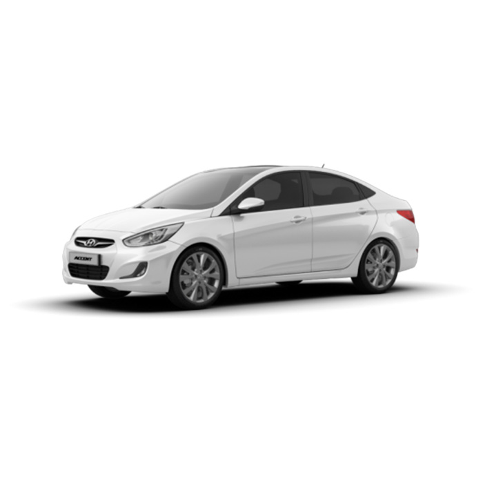 Hyundai Accent Sedan Crystal White