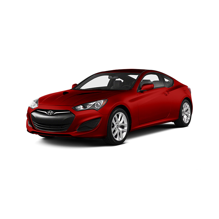 Hyundai Genesis Coupe Super Red