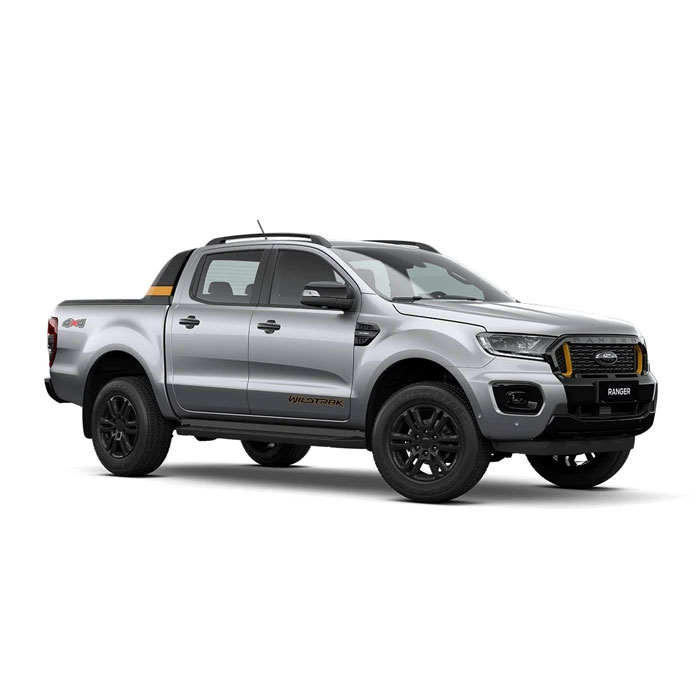 Aluminum Metallic Ford Ranger Wildtrak