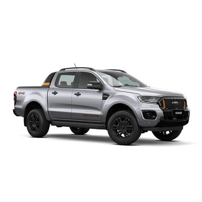 Aluminum Metallic Ford Ranger Wildtrak