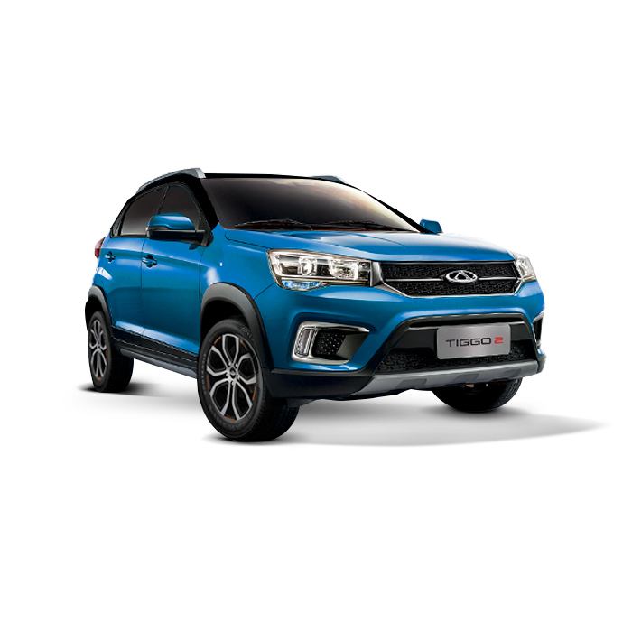 Chery Tiggo 2 Blue with Black Top