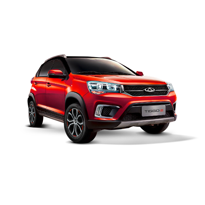 Chery Tiggo 2 Red with Black Top