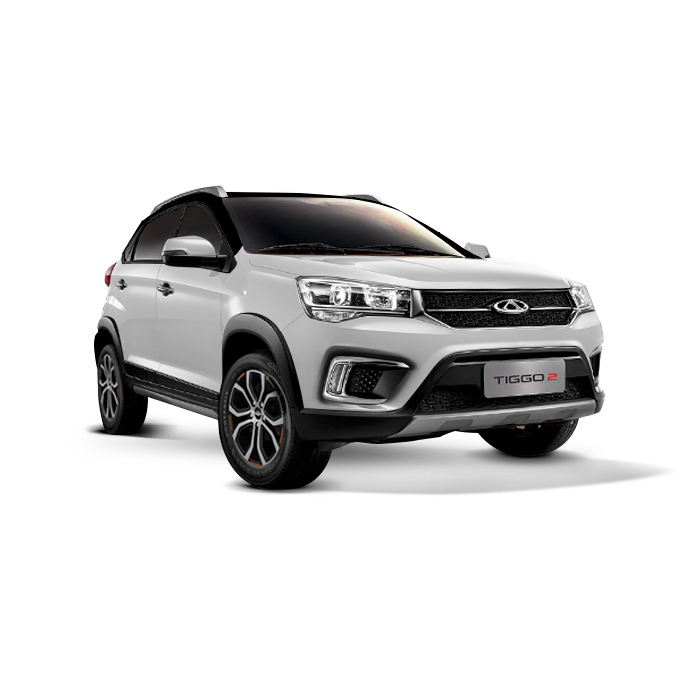 Chery Tiggo 2 White with Black Top