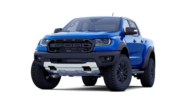 ford ranger raptor blue lightning