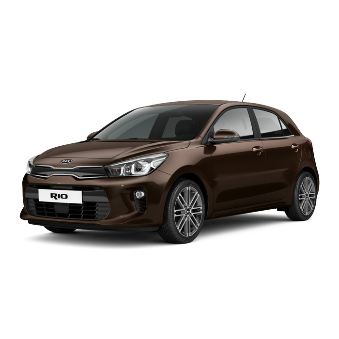 Kia Rio Hatchback Deep Sienna Brown