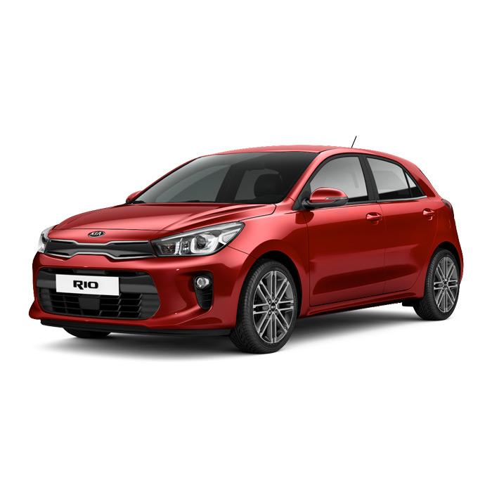 Kia Rio Hatchback Signal Red