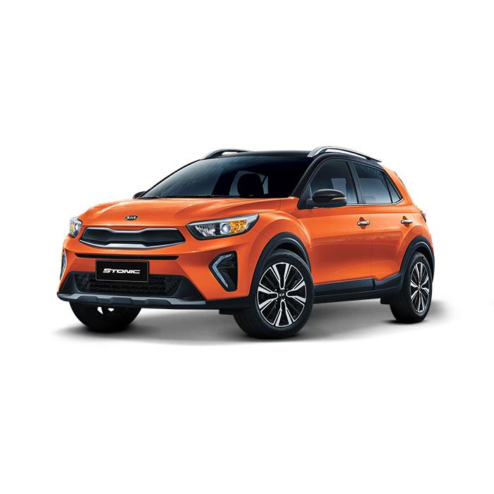 Kia Stonic Black / Flame Orange