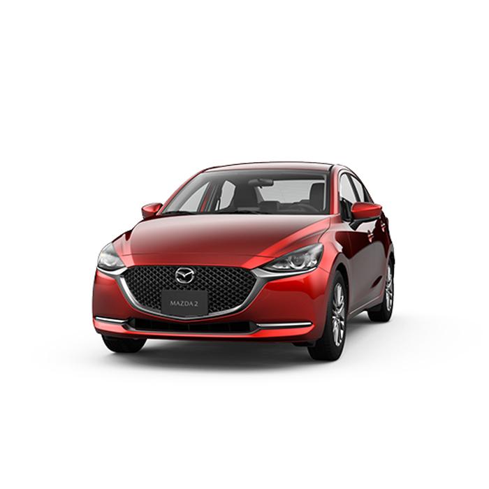 Mazda2 sedan Soul Red Crystal
