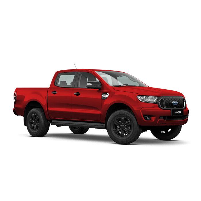 Sunset Red Ford Ranger XLT
