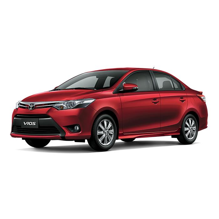 Toyota Vios Red Mica Metallic