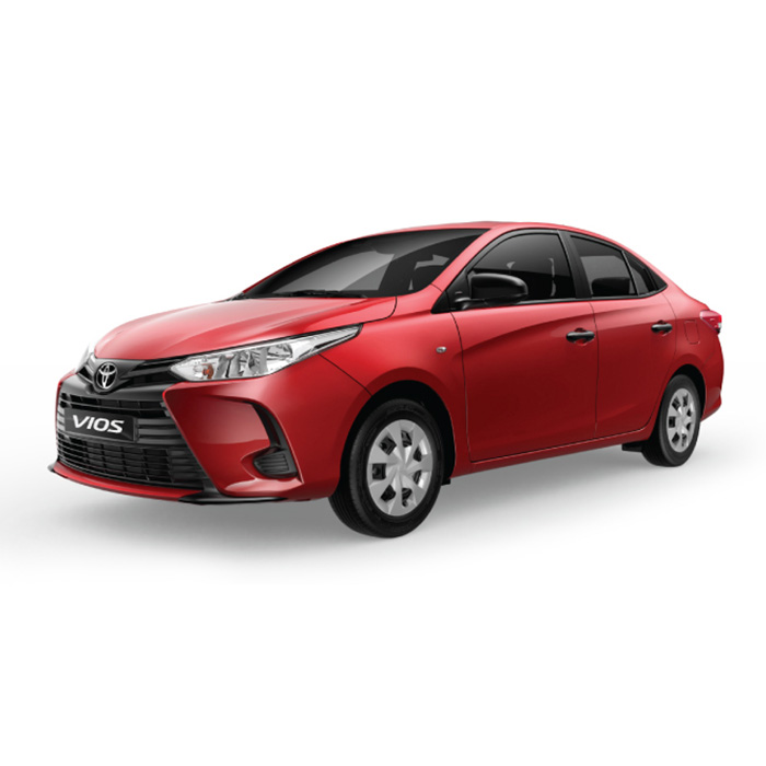 Toyota Vios Red  Mica Metallic update J model