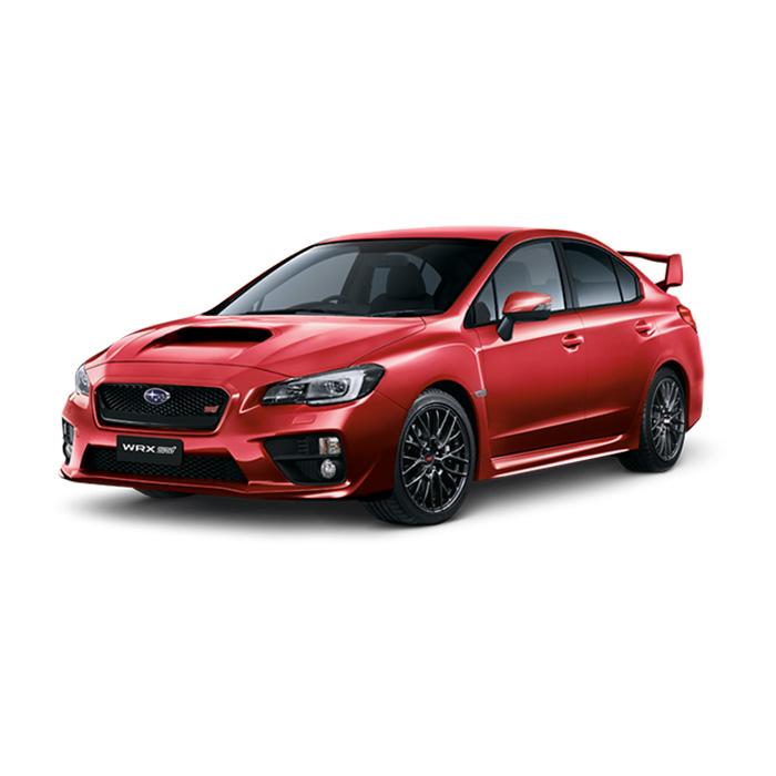 Subaru WRX STI Lightning Red