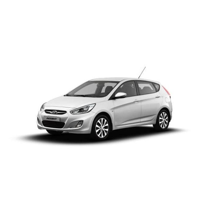 Hyundai Accent Hatchback Crystal White