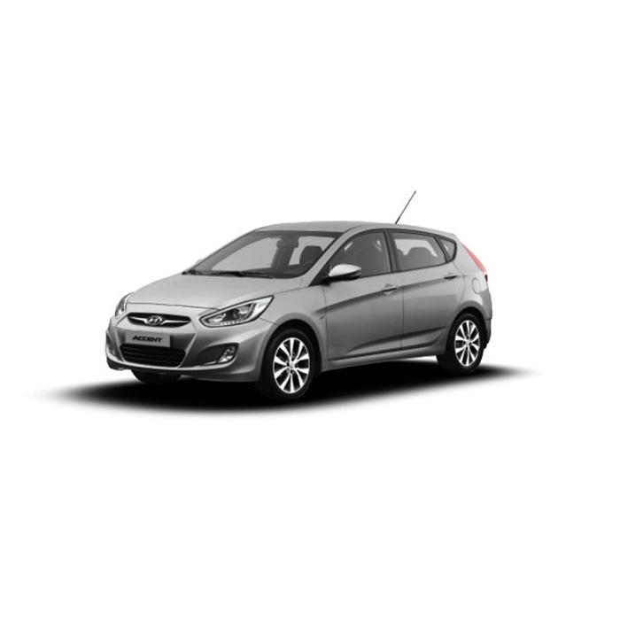 Hyundai Accent Hatchback Sleek Silver