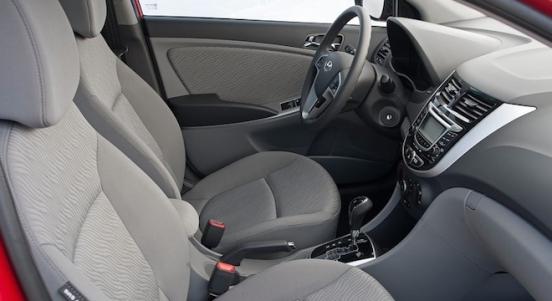 2018 Hyundai Accent Sedan cabin
