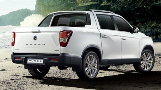 2018 SsangYong Musso rear