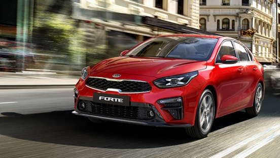 2019 Kia Forte exterior running shot