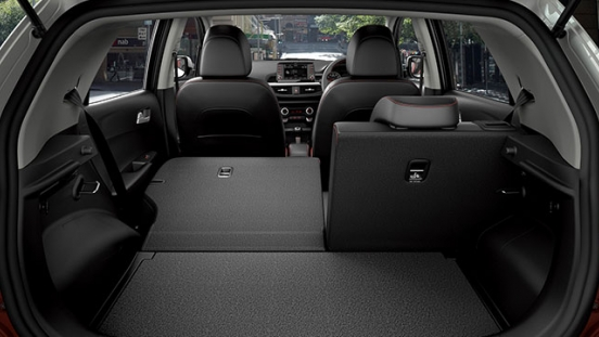 2019 Kia Picano interior folding seats
