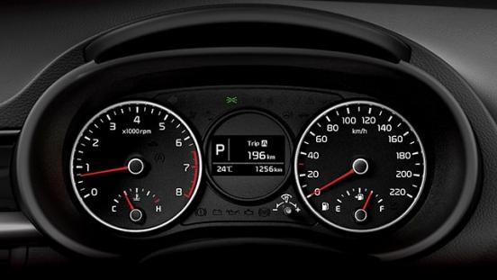 2019 Kia Picano interior gauge cluster