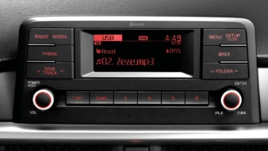 2019 Kia Picano interior infotainment radio